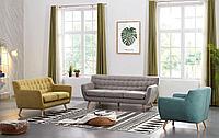 Комплект мягкой мебели Copenhagen, бежевый/желтый/бирюзовый