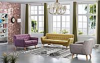 Комплект мягкой мебели Copenhagen, желтый/лиловый/бежевый