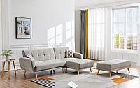Диван-кровать Christy угловой (правый), серо-бежевый цвет