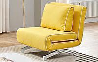 Кресло-кровать Denny, желтый/хром
