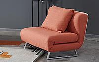Кресло-кровать Rosy, папайя/хром