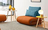 Кресло-кровать Justin-1, оранжевый/бирюзовый