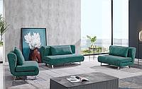 Комплект мягкой мебели Rosy, темно-бирюзовый