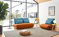 Комплект мягкой мебели Justin, оранжевый/бирюзовый