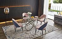 Обеденная группа стол Miracle и 4 стула Holly розовый