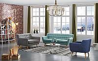 Комплект мягкой мебели Copenhagen, бирюзовый/серый/синий