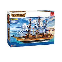 Игровой конструктор, Ausini, 27806, Пираты, Парусный фрегат *Рыба-меч*, 857 деталей, Цветная коробка