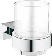 Стакан с держателем Grohe Essentials Cube 40755001 хром