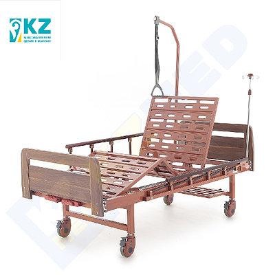 """Кровать медицинская """"KZMED"""" (204M-LE спинки ЛДСП), коричневый"""