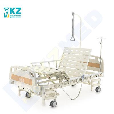 """Кровать медицинская """"KZMED"""" (304E спинки ЛДСП) , белый/коричневый"""