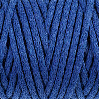 "Шнур для вязания ""Пухлый"" 100% хлопок ширина 5мм 100м (васильковый)"