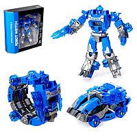 Робот - трансформер «Часы», трансформируется в робота и машинку, цвета МИКС