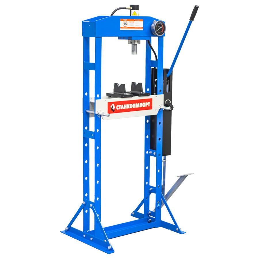 Гидравлический рамный пресс СТАНКОИМПОРТ SD0822 на 15 тонн с ножным приводом