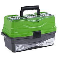 Ящик для снастей Tackle Box NISUS трёхполочный, цвет зелёный