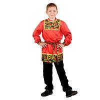 Карнавальная рубаха для мальчика «Рябинушка» с кокеткой, р. 32, рост 122-128 см