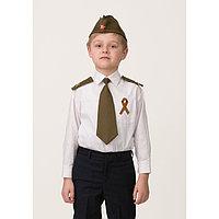 Набор военный «Солдат», пилотка, погоны, галстук на резинке, георгиевская лента 25 см