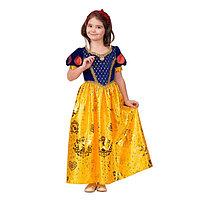 """Карнавальный костюм """"Принцесса Белоснежка"""", текстиль-принт,платье,повязка, р.32, рост 128 см 45134"""