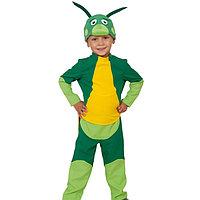 Карнавальный костюм «Кузнечик Кузя», рубаха, бриджи, маска, р. 28-30, рост 104-110 см