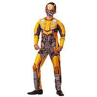 Карнавальный костюм «Бамблби», сорочка, брюки с принтом, маска, р. 32, рост 122 см