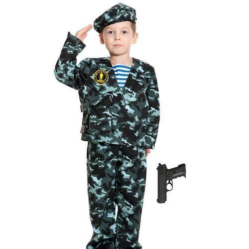 Карнавальный костюм «Спецназ-2 с пистолетом», детский, р. 34-36, рост 134-140 см