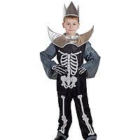 """Карнавальный костюм """"Кощей Бессмертный"""", головной убор, костюм, плащ, рост 134 см"""