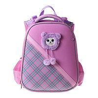 Рюкзак каркасный Hatber Ergonomic Classic 37 х 29 х 17, для девочки 'Няшка', розовый