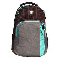 Рюкзак молодёжный эргономичная спинка, Kite 2578, 44 х 30 х 21, отделение для ноутбука, коричневый