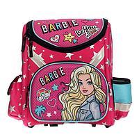 Ранец Стандарт раскладной Barbie, 35 х 31 х 14, EVA-спинка и дно, блестки