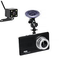 Видеорегистратор Cartage, 2 камеры, WDR HD 1080P, TFT 4.5, обзор 120