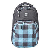 Рюкзак молодёжный эргономичная спинка, Kite 2578, 44 х 30 х 21, отделение для ноутбука, серый