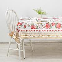 Клеёнка столовая на тканой основе 'Сад', 140x180 см, рулон 10 скатертей