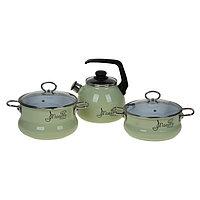 Набор посуды Maestro, 3 предмета кастрюли 3 л, 4 л чайник 3 л