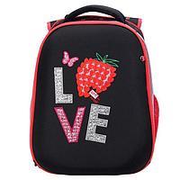Рюкзак каркасный deVENTE Choice 38 х 28 х 16 см, Strawberry, чёрный/красный