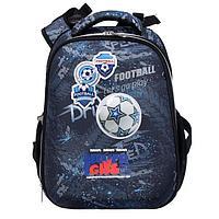 Рюкзак каркасный deVENTE Choice 38 х 28 х 16 см, Play Football, чёрный/синий