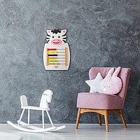 Бизиборд настенный 'Коровка', 55 x 36 x 4 см