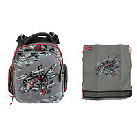 Рюкзак каркасный, Hummingbird TK, 37 х 32 х 18 см, с мешком для обуви, 'Самолёт'
