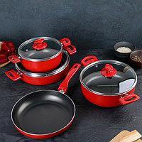 Набор посуды Papilla Redio, 4 предмета сковорода d26 см, сотейник 4,2 л, кастрюли 2,5/3,9 л