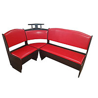 Кухонный уголок Барон Стандарт 1500х1000, Венге/кож.зам красный