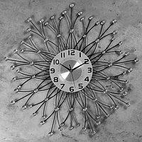 Часы настенные, серия Ажур, 'Фогтланд' d70 см, d22 см, 1 АА, плавный ход