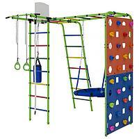 Детский спортивный комплекс Street 2, 201 х 232 х 259 см, цвет салатовый/радуга