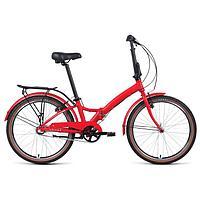 Велосипед 24' Forward Enigma 3.0, 2021, красный матовый/белый, размер 14'