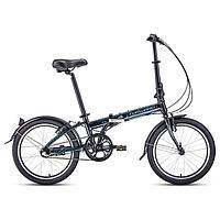 Велосипед 20' Forward Enigma 3.0, 2021, цвет черный/серый, размер 11'