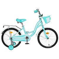 Велосипед 18' Graffiti Premium Girl, цвет мятный/белый