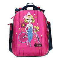 Рюкзак каркасный, Hummingbird TK, 37 х 26 х 18 см, 3D нашивка, 'Девочка'