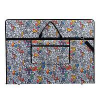 Папка А1 с ручками, текстиль, 920 х 680 х 40 мм 'Вдохновение', с карманом 'Граффити'