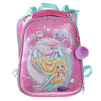 Рюкзак каркасный Hatber Ergonomic 37 х 29 х 17 см, для девочки, 'Барби', розовый