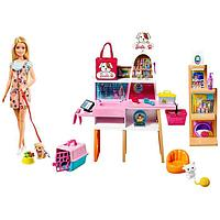 Игровой набор 'Зоомагазин магазин для животных' с куклой Барби, питомцем и аксессуарами