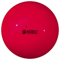 Мяч гимнастический Pastorelli New Generation, 18 см, FIG, цвет коралл