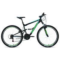 Велосипед 27,5' Forward Raptor 1.0, цвет черный/бирюзовый, размер 16'