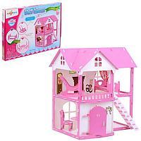 Домик для кукол 'Коттедж Светлана', бело-розовый, с мебелью